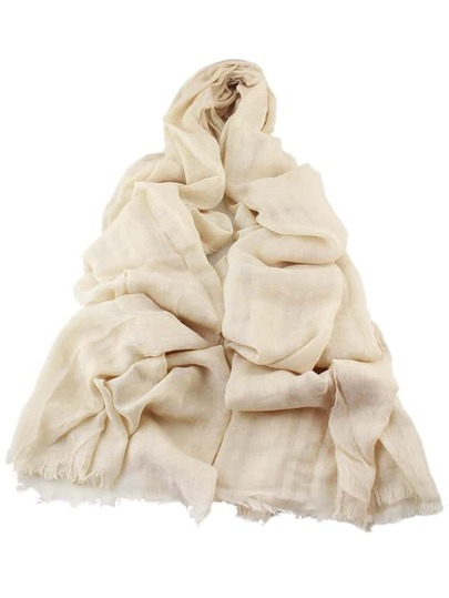 Beige Good Quality Soft Solid Color Cotton Long Scarf