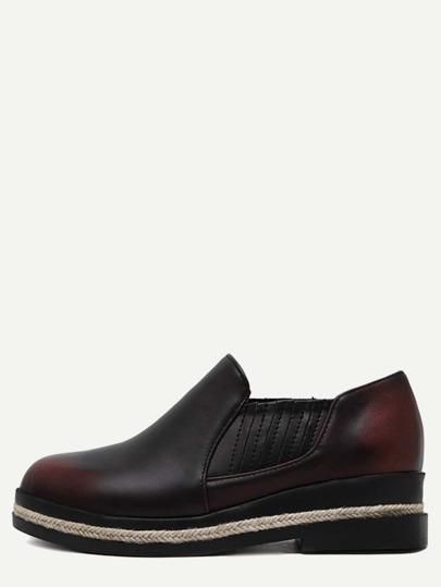 Espadrille Schuhe Kunstleder - burgund rot