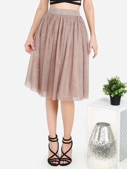 Tulle Circle Skirt MOCHA