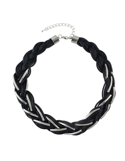 Braided Rope Statement Necklace