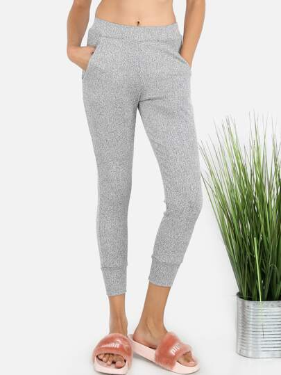 Peppered Jogger Pants HEATHER GREY