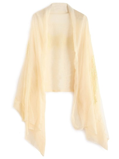 Apricot Lace Voile Scarf