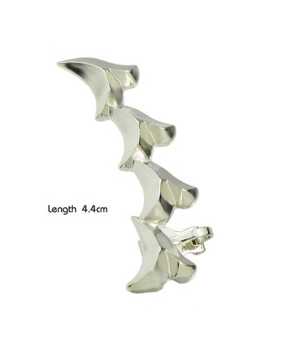 Silver Plated Long Ear Cuff Earring