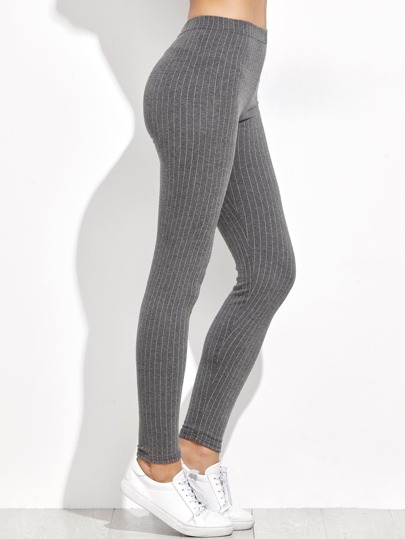 Vertical Pinstriped Leggings