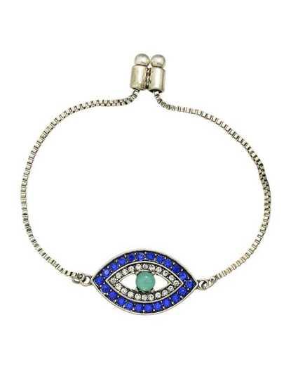 Bracelet à chaîne avec pendentif en forme de l'œil
