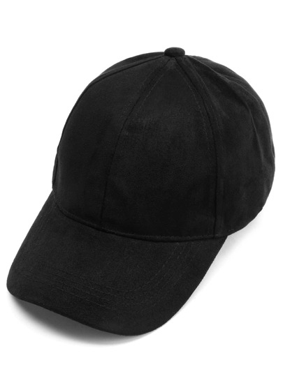Black Suede Baseball Cap