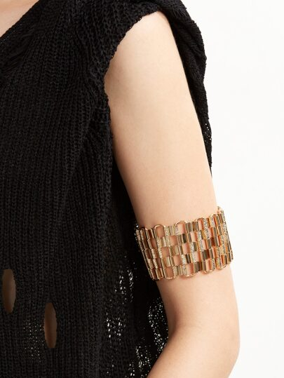 Matte Gold Geometric Hollow Out Bracelet