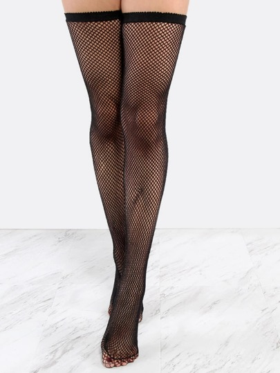 Thigh High Fishnet Stockings BLACK