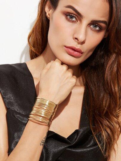 Bracelet multicouche en cercle - doré