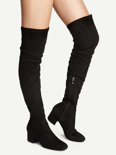Botas por encima de rodilla - negro
