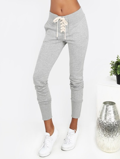 Lace Up Sweatpants GREY