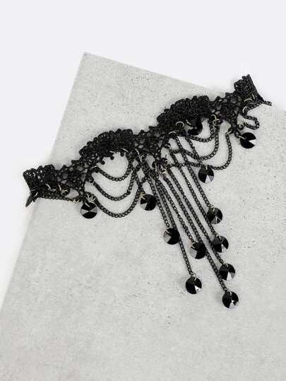Chandelier Lace Choker BLACK