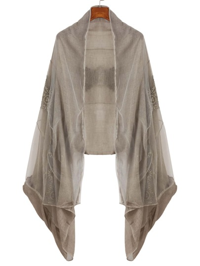 Light Brown Lace Voile Scarf