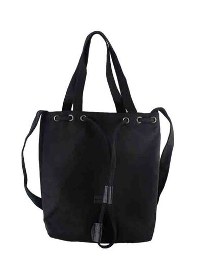 Black New Casual Big Canvas Shoulder Bag For Women