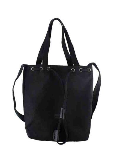 Bolsa de lona con diseño casual - negro