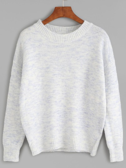 Pull col rond manche longue