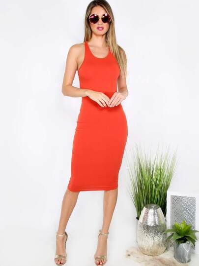 Bodycon Tank Dress RUST