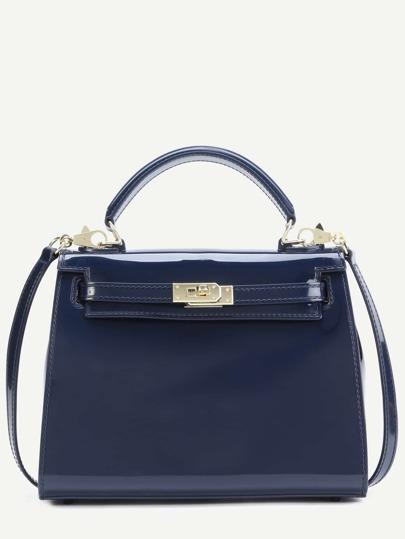 Dark Blue Jelly Handbag With Strap
