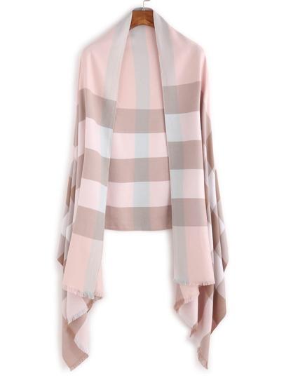 Pink Eyelash Fringe Stripe Scarf