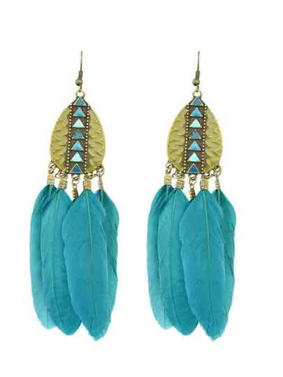 Lakeblue New Tibetan Design Feather Chandelier Earrings