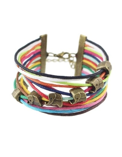 Colorful Braided Link Bracelet