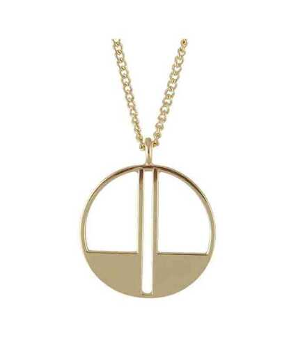 Metal Round Long Pendant Necklace