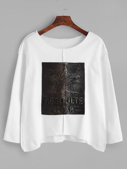 White Patch Loose T-shirt