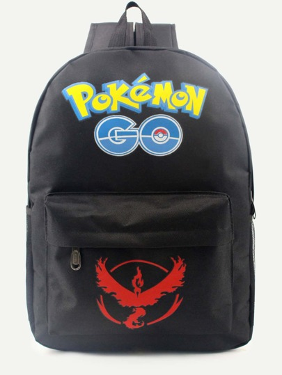 Pokemon GO Black Nylon Backpack
