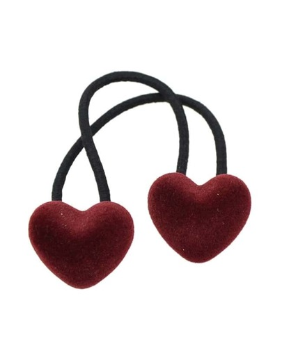 Red Elastic Rope Heart Hair Band