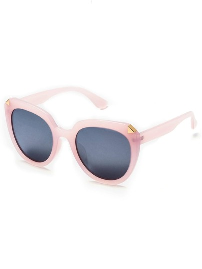 Pink Frame Grey Lens Classic Sunglasses