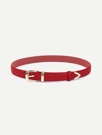 Red Metal Buckle Belt