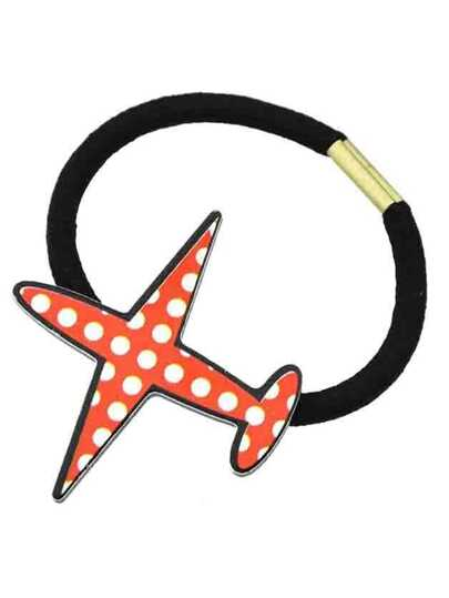 Red New Coming Airplane Shape Hair Rope