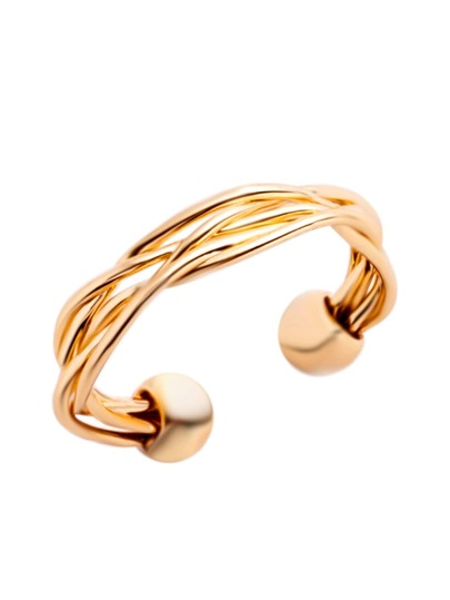 Gold Plated Braided Wrap Ring
