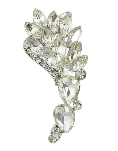 Silver Rhinestone Flower Cuff Earring