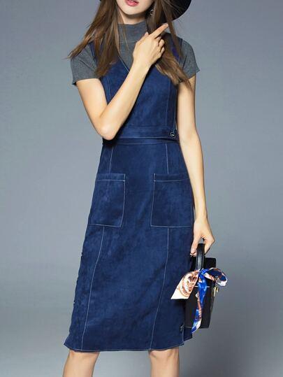 Vestido de 2 piezas de punto - azul marino