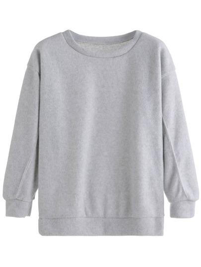 Grey Drop Shoulder Sweatshirt