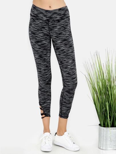 Active Yoga Patterned Cross Strap Leggings
