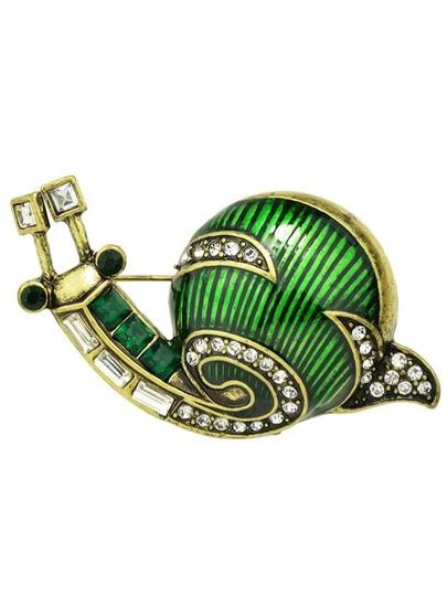 New Cute Enamel Snail Shape Brooch For Women
