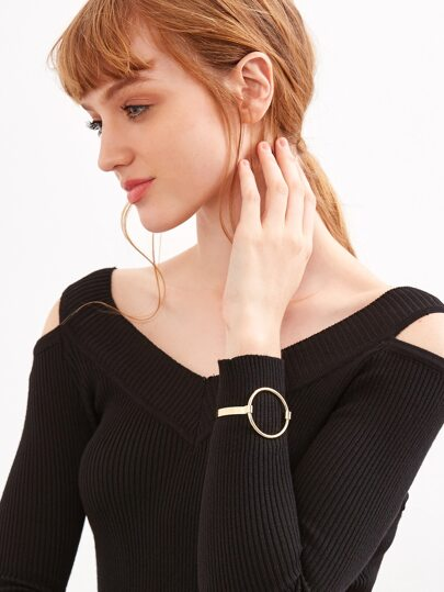 Gold Hoop Statement Bangle
