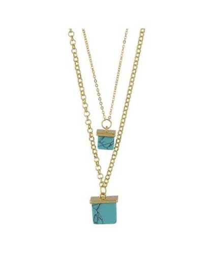 Blue Double Layers Turquoise Necklace