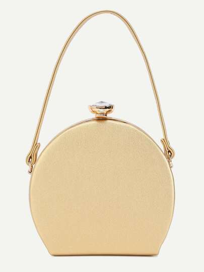 Golden PU Perfume Bottle Evening Bag