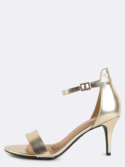 Metallic Single Sole High Heels GOLD