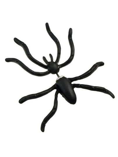 Black Spider Shape Stud Earrings