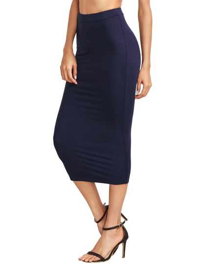 High Waist Ruched Pencil Skirt