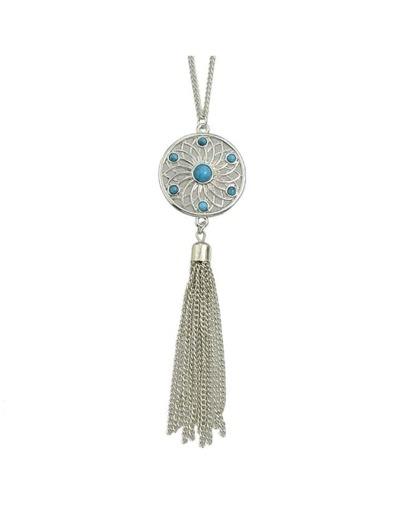Long Chain Pendant Necklace