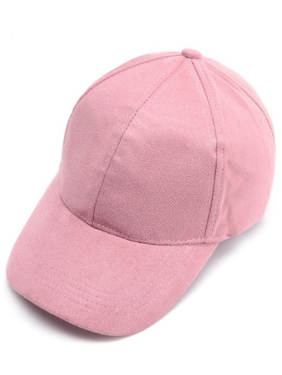 Casquette base-ball en suédé - rose