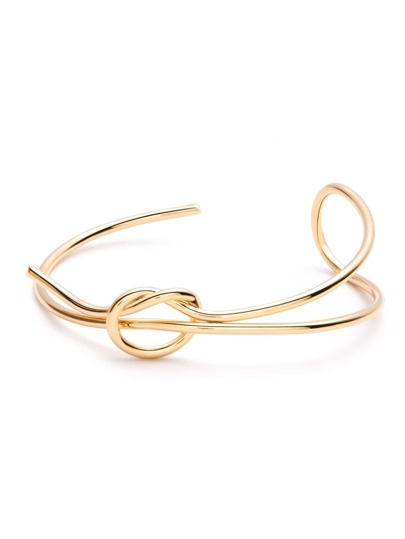 Gold Plated Minimalist Wrap Bangle