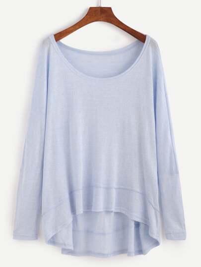 Camiseta asimétrica - azul