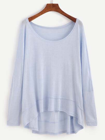 T-Shirt Con Orlo - Blu