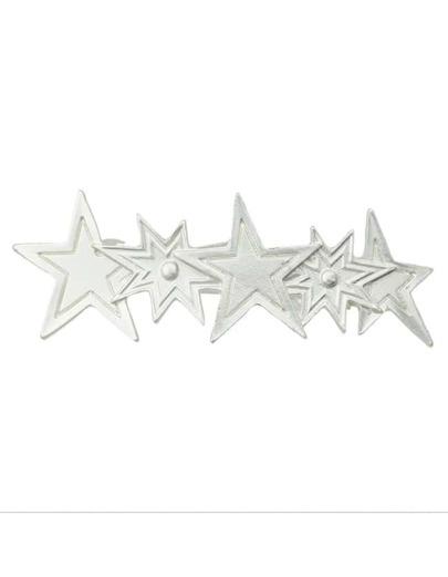 Silver Plated Star Hair Clip
